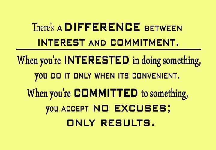 commitment to succeed