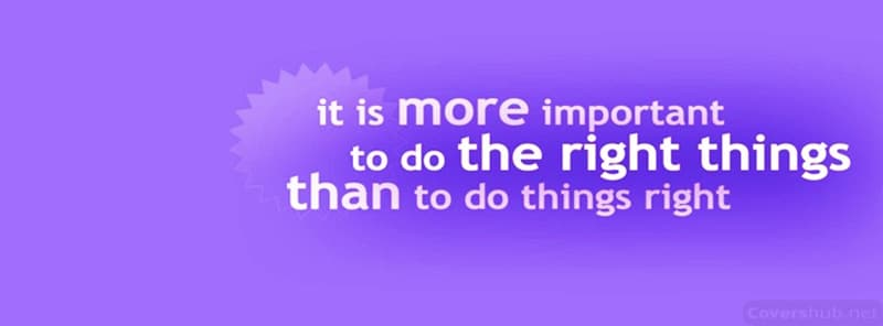 do right things
