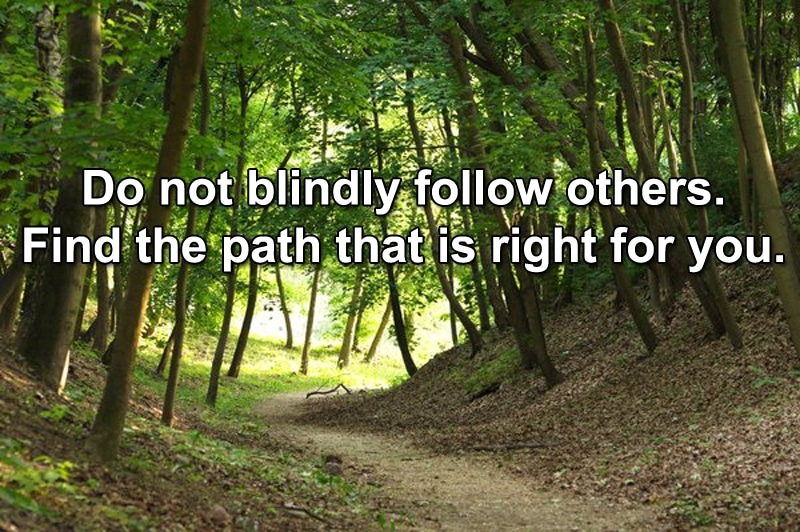 find the right path