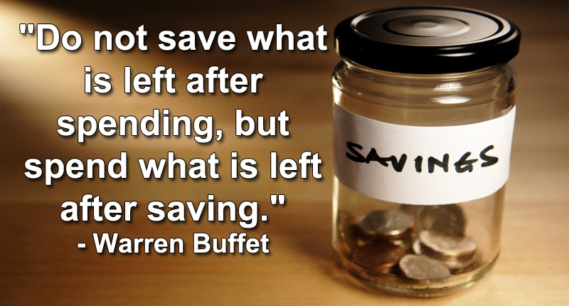 warren buffet saving quote
