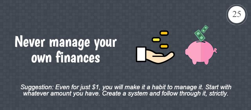 never manage your money