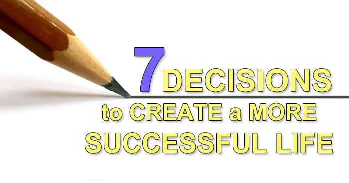 decisions to be successful