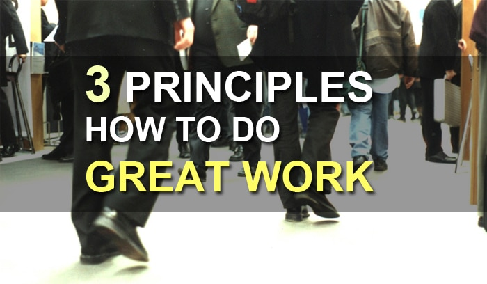 how to do great work