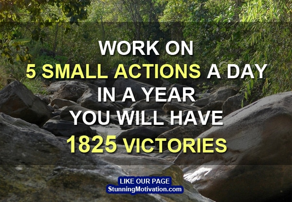 small action each day