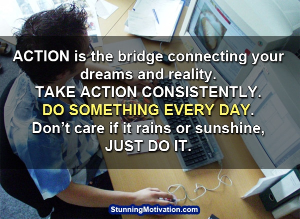 take action for success