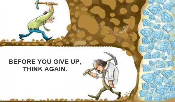 never give up on success