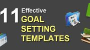11 effective goal setting templates