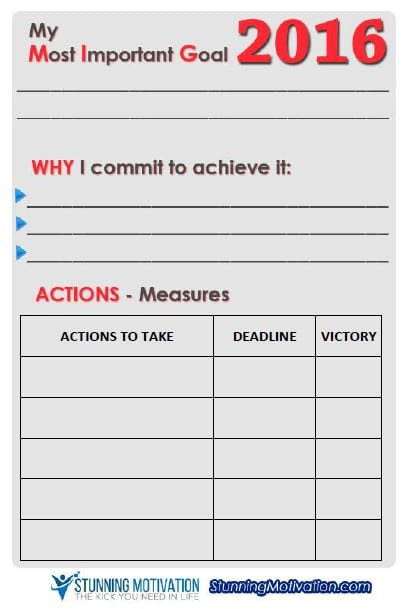 Effective Goal Setting Templates For You  Stunning Motivation