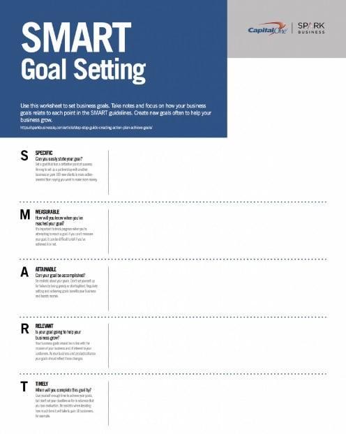 11 effective goal setting templates for you 9 template from spark business iq friedricerecipe Image collections
