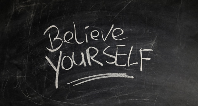 believe in yourself to success