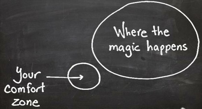 venture out of comfort zone