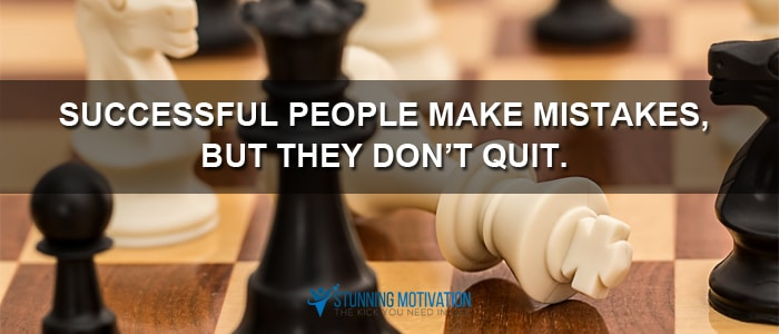 successful people don't quit