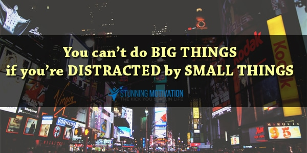 distraction sayings