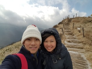 Conquering Hallasan with my spouse