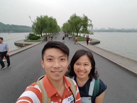 Visited Hangzhou with family. That's my spouse