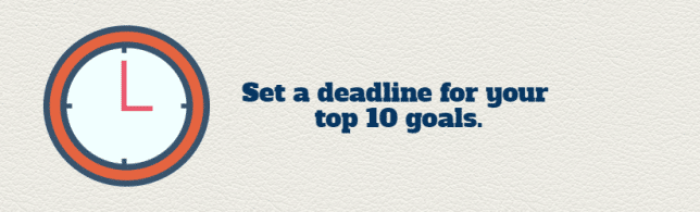 set a deadline