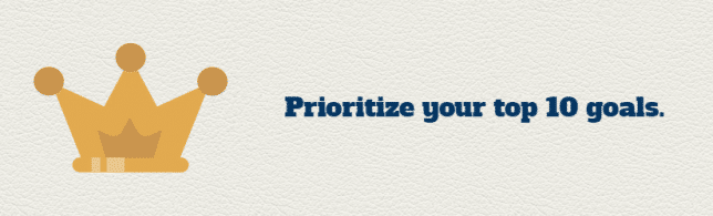 prioritize your goals
