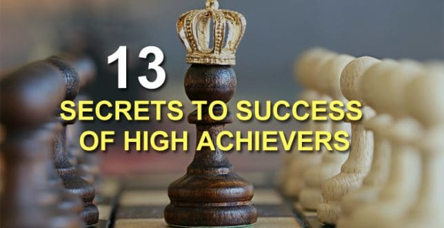 high achiever secrets to to success