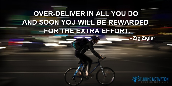 over deliver quote