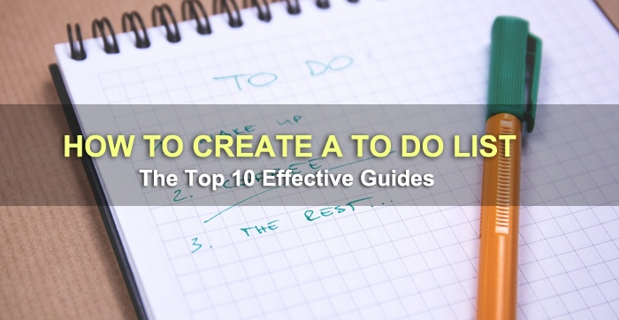 how to create a to do list