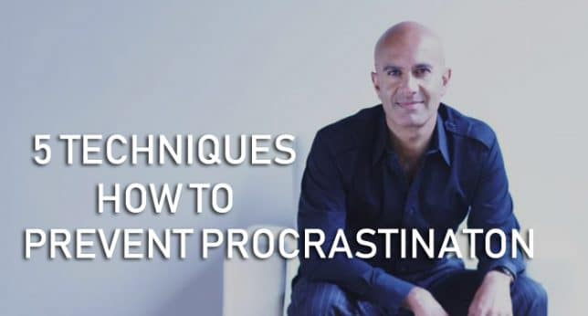 robin sharma prevent procrastination