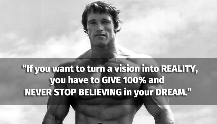 Arnold Schwarzenegger saying