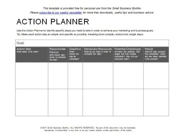 10 effective action plan templates you can use now action plan template 7 friedricerecipe Image collections