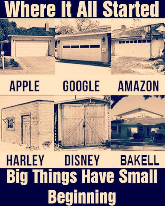 big things started small