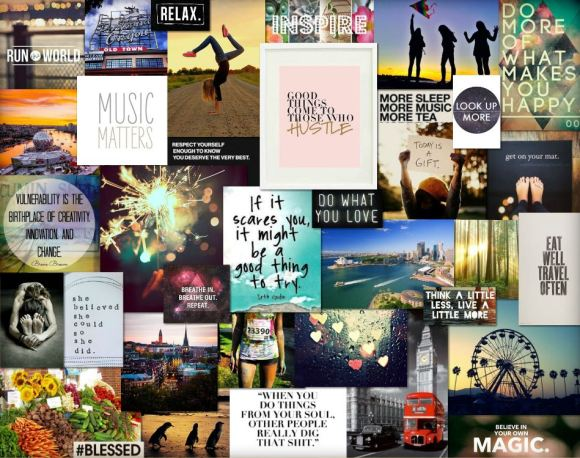 Jillian Walker vision board