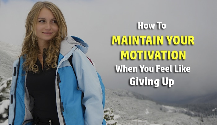 maintain motivation
