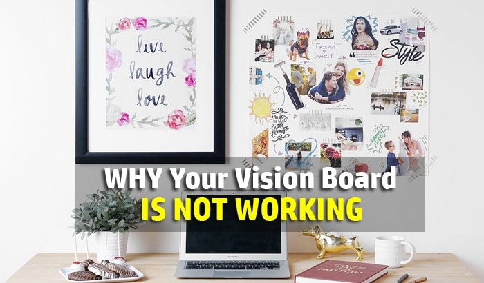 vision board not working