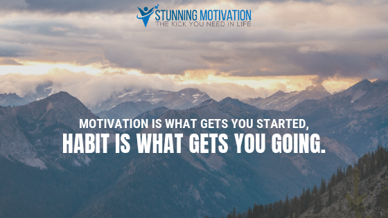Motivation is what gets you started, habit is what gets you going.