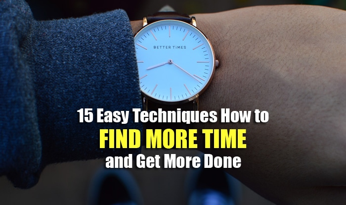 find more time
