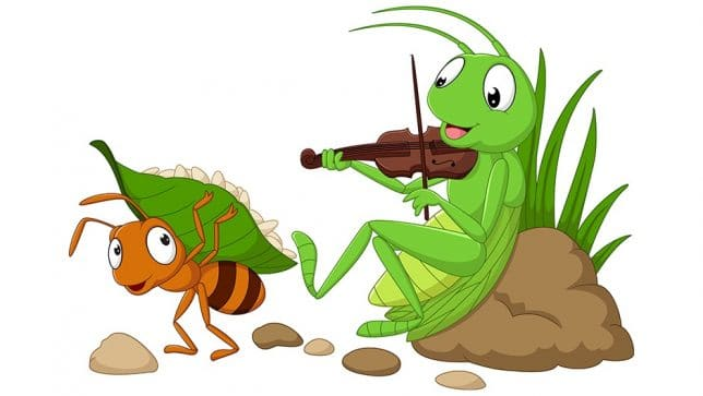 The ant and grasshopper story