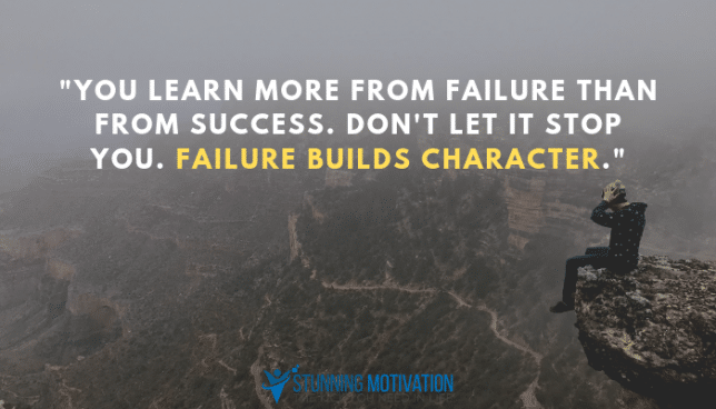 failure builds character quote