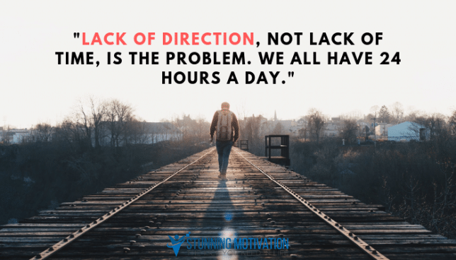lack of direction quote