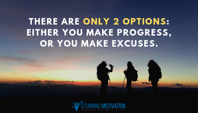 make excuses quote