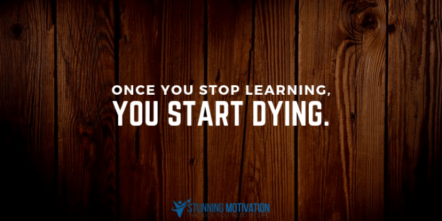 stop learning quote