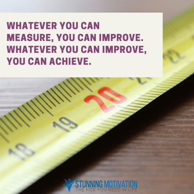 whatever you can measure you can improve