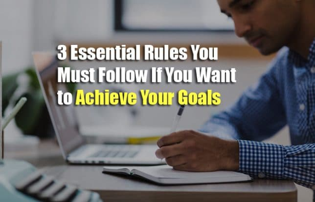 rules to achieve goals