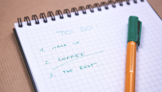 to do list for planning
