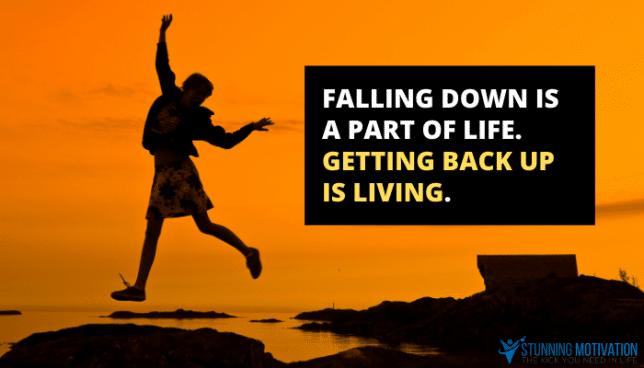 getting back up quote
